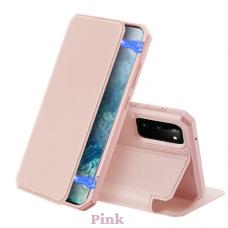 Dux Ducis Skin X Atverčiamas Dėklas Samsung Galaxy S20 Rožinis