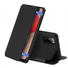 DUX DUCIS Skin X atverčiamas dėklas Samsung Galaxy A02s Juodas