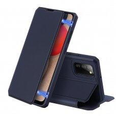 DUX DUCIS Skin X atverčiamas dėklas Samsung Galaxy A02s Tamsiai mėlynas