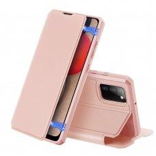 DUX DUCIS Skin X atverčiamas dėklas Samsung Galaxy A02s Rožinis