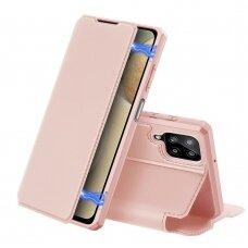 Atverčiamas dėklas DUX DUCIS Skin X Samsung Galaxy A12 Rožinis