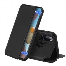 Dux Ducis Skin X Atverčiamas Dėklas Samsung Galaxy A21S Juodas