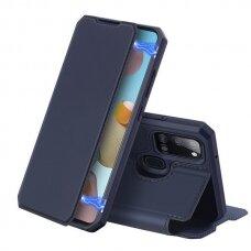 Dux Ducis Skin X Atverčiamas Dėklas  Samsung Galaxy A21S Tamsiai Mėlynas