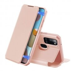 Dux Ducis Skin X Atverčiamas Dėklas Samsung Galaxy A21S Rožinis
