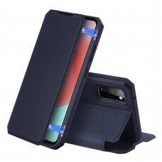 Dux Ducis Skin X atverčiamas dėklas Samsung Galaxy A31 mėlynas