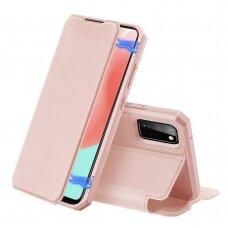 Dux Ducis Skin X atverčiamas dėklas Samsung Galaxy A31 rožinis