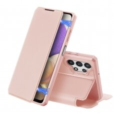 Atverčiamas dėklas DUX DUCIS Skin X Samsung Galaxy A32 5G Rožinis