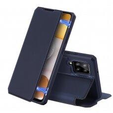 DUX DUCIS Skin X atverčiamas dėklas Samsung Galaxy A42 5G mėlynas