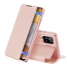 DUX DUCIS Skin X atverčiamas dėklas Samsung Galaxy A42 5G rožinis