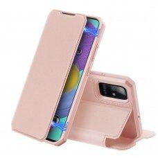DUX DUCIS Skin X atverčiamas dėklas Samsung Galaxy A71 5G rožinis UCS024