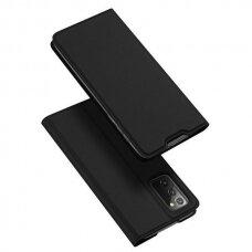 Dux Ducis Skin X Atverčiamas Dėklas Samsung Galaxy Note 20 Juodas
