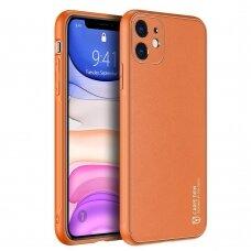 Dux Ducis Yolo elegant case made of soft TPU and PU leather for iPhone 12 mini orange