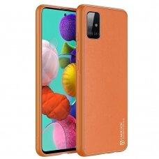 Elegantiškas Dux Ducis Yolo Dėklas Tpu Ir Pu Oda Samsung Galaxy A51 Oranžinis