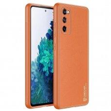 Dėklas Dux Ducis Yolo Tpu+Pu Oda Samsung Galaxy S20 Fe 5G Oranžinis
