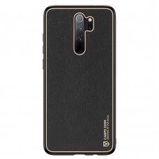 Dėklas Dux Ducis Yolo elegant  TPU ir PU oda Xiaomi Redmi Note 8 Pro juodas
