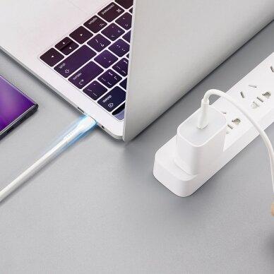 Dux Ducis K-V USB Typ C - USB Typ C Kabelis 60 W 3 A 1 m Greitas Įkrovimas Baltas 11