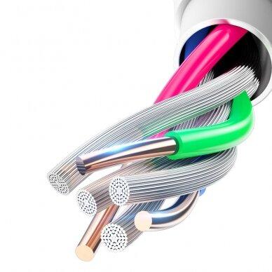 Dux Ducis K-V USB Typ C - USB Typ C Kabelis 60 W 3 A 1 m Greitas Įkrovimas Baltas 14