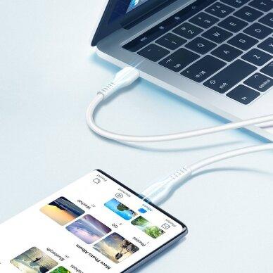 Dux Ducis K-V USB Typ C - USB Typ C Kabelis 60 W 3 A 1 m Greitas Įkrovimas Baltas 16