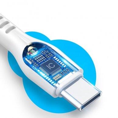 Dux Ducis K-V USB Typ C - USB Typ C Kabelis 60 W 3 A 1 m Greitas Įkrovimas Baltas 8