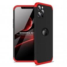 Dviejų Dalių Plastikinis Dėklas Apsaugantis Priekį Ir Galą 'Gkk 360'  Iphone 12 Mini Juodas-Raudonas