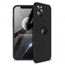 Dviejų Dalių Plastikinis Dėklas Apsaugantis Priekį Ir Galą 'Gkk 360' Iphone 12 Pro Max Juodas