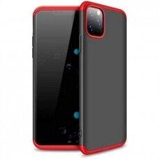 Dviejų Dalių Plastikinis Dėklas Apsaugantis Priekį Ir Galą 'Gkk 360' Iphone 12 Pro Max Juodas-Raudonas