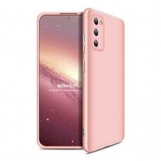 """DVIEJŲ DALIŲ PLASTIKINS DĖKLAS APSAUGANTIS PRIEKĮ IR GALĄ """"GKK 360"""" Samsung Galaxy A41 rožinis"""