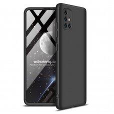 """Dviejų Dalių Plastikinis Dėklas Apsaugantis Priekį Ir Galą """"Gkk 360"""" Samsung Galaxy A51 Juodas"""