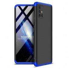 """DVIEJŲ DALIŲ PLASTIKINS DĖKLAS APSAUGANTIS PRIEKĮ IR GALĄ """"GKK 360"""" Samsung Galaxy A51 juodas-mėlynas (ctz006)"""