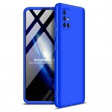 """DVIEJŲ DALIŲ PLASTIKINS DĖKLAS APSAUGANTIS PRIEKĮ IR GALĄ """"GKK 360"""" Samsung Galaxy A51 mėlynas (ctz006)"""