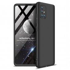 """Dviejų Dalių Plastikinis Dėklas Apsaugantis Priekį Ir Galą """"Gkk 360"""" Samsung Galaxy A71 Juodas"""