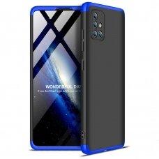 """Dviejų Dalių Plastikinis Dėklas Apsaugantis Priekį Ir Galą """"Gkk 360"""" Samsung Galaxy A71 Juodas-Mėlynas"""