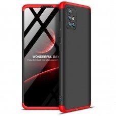 """Dviejų Dalių Plastikinis Dėklas Apsaugantis Priekį Ir Galą """"Gkk 360"""" Samsung Galaxy A71 Juodas-Raudonas"""