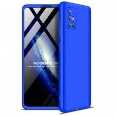 """Dviejų Dalių Plastikinis Dėklas Apsaugantis Priekį Ir Galą """"Gkk 360"""" Samsung Galaxy A71 Mėlynas"""