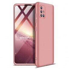 """DVIEJŲ DALIŲ PLASTIKINS DĖKLAS APSAUGANTIS PRIEKĮ IR GALĄ """"GKK 360"""" Samsung Galaxy A71 rožinis (ctz005) UCS024"""
