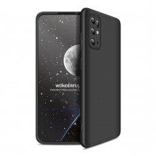 """DVIEJŲ DALIŲ PLASTIKINIS DĖKLAS APSAUGANTIS PRIEKĮ IR GALĄ """"GKK 360"""" Samsung Galaxy S20 Plus juodas"""