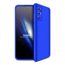 """DVIEJŲ DALIŲ PLASTIKINIS DĖKLAS APSAUGANTIS PRIEKĮ IR GALĄ """"GKK 360"""" Samsung Galaxy S20 Plus mėlynas"""