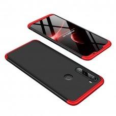 """Dvipusis Plastikinis Dėklas """"Gkk 360 Protection"""" Xiaomi Redmi Note 8T Juodas-Raudonas"""