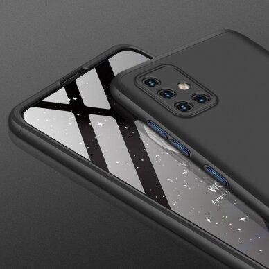 """DVIEJŲ DALIŲ PLASTIKINS DĖKLAS APSAUGANTIS PRIEKĮ IR GALĄ """"GKK 360"""" Samsung Galaxy A51 juodas (ctz006) 2"""