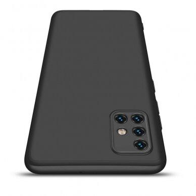 """DVIEJŲ DALIŲ PLASTIKINS DĖKLAS APSAUGANTIS PRIEKĮ IR GALĄ """"GKK 360"""" Samsung Galaxy A51 juodas (ctz006) 4"""