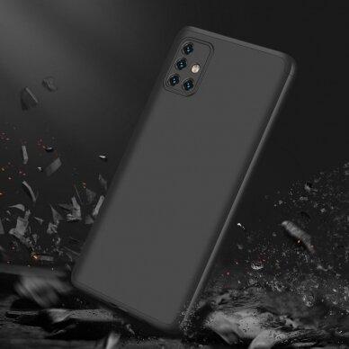 """DVIEJŲ DALIŲ PLASTIKINS DĖKLAS APSAUGANTIS PRIEKĮ IR GALĄ """"GKK 360"""" Samsung Galaxy A51 juodas (ctz006) 5"""