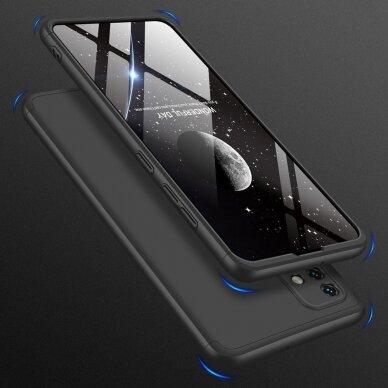 """DVIEJŲ DALIŲ PLASTIKINS DĖKLAS APSAUGANTIS PRIEKĮ IR GALĄ """"GKK 360"""" Samsung Galaxy A51 juodas (ctz006) 6"""