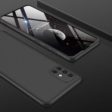 """DVIEJŲ DALIŲ PLASTIKINS DĖKLAS APSAUGANTIS PRIEKĮ IR GALĄ """"GKK 360"""" Samsung Galaxy A51 juodas (ctz006) 7"""