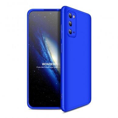 """DVIEJŲ DALIŲ PLASTIKINIS DĖKLAS APSAUGANTIS PRIEKĮ IR GALĄ """"GKK 360"""" Samsung Galaxy S20 mėlynas (ctz003) UCS003"""