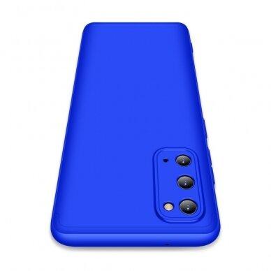 """DVIEJŲ DALIŲ PLASTIKINIS DĖKLAS APSAUGANTIS PRIEKĮ IR GALĄ """"GKK 360"""" Samsung Galaxy S20 mėlynas (ctz003) UCS003 3"""