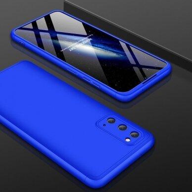 """DVIEJŲ DALIŲ PLASTIKINIS DĖKLAS APSAUGANTIS PRIEKĮ IR GALĄ """"GKK 360"""" Samsung Galaxy S20 mėlynas (ctz003) UCS003 4"""