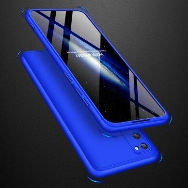 """DVIEJŲ DALIŲ PLASTIKINIS DĖKLAS APSAUGANTIS PRIEKĮ IR GALĄ """"GKK 360"""" Samsung Galaxy S20 mėlynas (ctz003) UCS003 5"""
