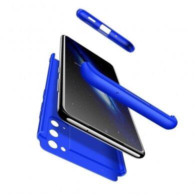 """DVIEJŲ DALIŲ PLASTIKINIS DĖKLAS APSAUGANTIS PRIEKĮ IR GALĄ """"GKK 360"""" Samsung Galaxy S20 mėlynas (ctz003) UCS003 7"""