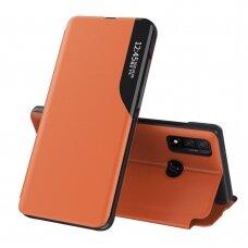 Atverčiamas Dėklas Eco Leather View Case Huawei P Smart 2019 Oranžinis