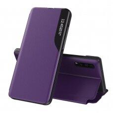 Atverčiamas dėklas Eco Leather View skirta Huawei P30 Violetinis